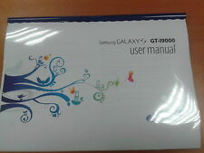SAMSUNG GALAXY S I9000 149 PAGES FULL PRINTED USER MANUAL GUIDE INSTRUCTIONS A5
