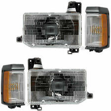 88-95 PATHFINDER FRONT HEADLAMP Headlight & SIGNAL Lamp LEFT & RIGHT Pair SET