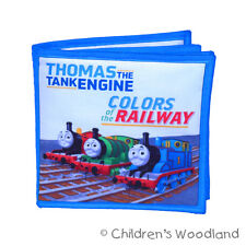 THOMAS THE TANK ENGINE CLOTH/SOFT BOOK! LEARN COLORS! KIDS~TRAIN~JAMES~PERCY!