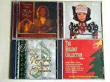4 CDs_CHRISTMAS music_Semi Traditional_Famous Artists + New York Stage Orchestra