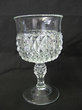 "Lot of 12, 5"", Glass Water Goblets, Restaurant/Catering Glassware, Raised Design"