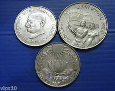 10 rs silver coin 1969,70,72 GANDHI ,Food For All ,25 year of Independence