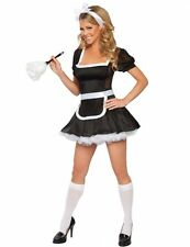 NEW WOMENS LADIES SEXY FRENCH MAID COSTUME HEN DOO FANCY DRESS PARTY OUTFIT