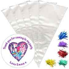 24 Personalised My Little Pony Do It Yourself DIY Sweetie Cone Party Bags