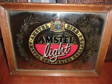 VINTAGE AMSTEL LIGHT BEER MIRROR 20 X 15