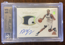 2014-15 Panini Flawless Andrew Wiggins Patch / Autograph Rookie Card BGS 9.5