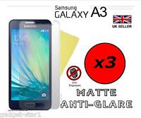 3x HQ MATTE ANTI GLARE SCREEN PROTECTOR COVER GUARD FOR SAMSUNG GALAXY A3