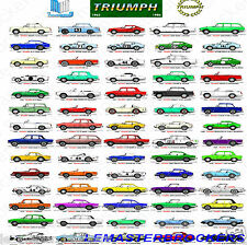 Lot Posters auto collection TRIUMPH 1923-1980 (TR 2/3/4/5/6/7/8 Stag Herald ...