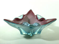 BORSKE SKLO Glas Schale ° Design Josef Hospodka ° czech art glass bowl