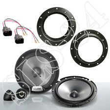 VW Golf V VI Caddy Jetta T5 Clarion 350W Boxen+Lautsprecher Ring+LSP Adapter SET