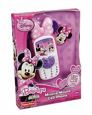 Fisher-Price Disney's Minnie Speaks to you Bow top Charm Cell Phone NEW Freeship