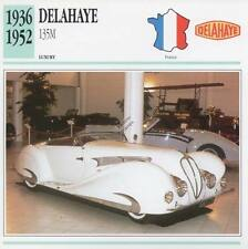 1936-1952 DELAHAYE 135M Classic Car Photograph / Information Maxi Card
