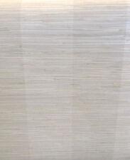 LIGHT GRAY Faux GRASSCLOTH Wallpaper Stripe Chesapeake SRC256015 DOUBLE ROLLS