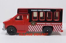 """2010 Matchbox """"Blaze Busters"""" Chevy® Transport Bus RED/FOREST FIRE CONTROL/MINT"""