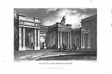 Le Baths.Southernhay.Exeter.Devon.W.H. bartlett. daté 1830. county print. antique