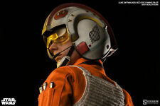 "Sideshow 1/6 12"" Star Wars Luke Skywalker Red Five X-wing Pilot Figure"