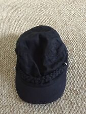 Black Flat Or Baseball Cap Anchor Nautical Button Detail By H&M Age 13-14 Years