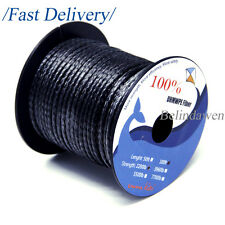 100ft Spool 2200lb Braided UHMWPE Dyneema Line Cord for Traction Surfing Kites