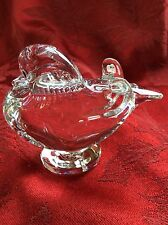 FLAWLESS Exceptional BACCARAT Crystal MANDARIN DUCK PIGEON DOVE LOVEBIRD