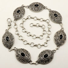 Women's Tobacco Road Silver Tribal Metal Link Belt S / M / L - Made In ITALY