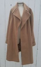 Asos camel wool like trench jacket coat womens plus size tall size 16 us blogger