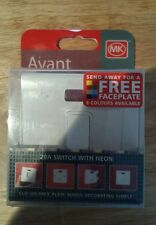 MK Avant - Clip on Face Plate - Switch 20A With Neon White new