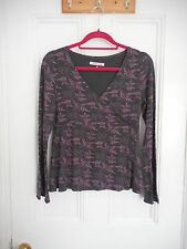White Stuff Floral Leaf Pattern Wrap style Crossover Top UK 10 ❤