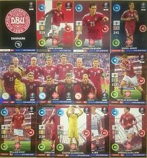 Danmark Nordic Scandinavian Set 13 Cards Adrenalyn XL Road To UEFA Euro 2016