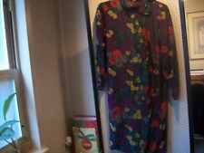 ALBERT NIPON Ladies Vtg Dress Sz 6 NWT $130.00 SILK Floral Green Red Purple
