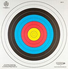 ARCHERY HEAVY DUTY FITA APPROVED PAPER TARGET SET 40CM X 40CM - 20PK