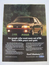 1989 Ford Mustang GT Advertising Print Ad