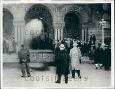 1933 Tear Gas Foreclosure Protest County Building Salt Lake City UT Press Photo