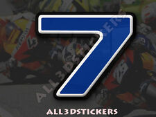 3D Stickers Resin Domed NUMBER 7 SEVEN - Color Blue - 25 mm(1 inch) Adhesive