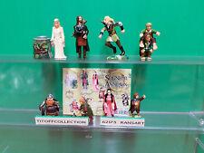 La serie de 8 figurines kinder 2002 avec 1 BPZ le seigneur des anneaux