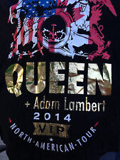 QUEEN ROCK BAND ADAM ALMBERT CONCERT TOUR ROCK & ROLL BLACK FAN T-SHIRT XXL