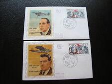 FRANCE - 2 enveloppes 1er jour 24/2/1973 (henri guillaumet/paul codos) (cy80)