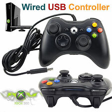 USB Cablato Gamepad Controller di Joystick Joypad per Xbox 360 PC Windows Nero