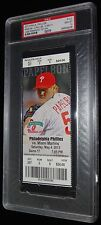 5/4/2013 JOSE FERNANDEZ 1ST WIN MIAMI MARLINS PHILLIES FULL TICKET PSA MINT 10