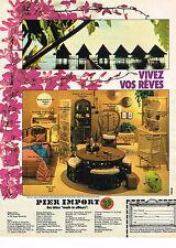 PUBLICITE ADVERTISING 024   1980   PIER IMPORT   meubles exotiques