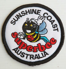 VINTAGE SUNSHINE COAST SUPERBEE EMBROIDERED SOUVENIR PATCH WOVEN CLOTH SEW BADGE