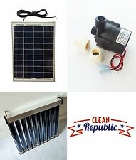 Solar Hot Water Heater Kit Circulating Energy 20 W 12 V FREE SHIPPING