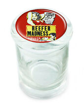 """Reefer Madness Vintage Large Stash Glass Jar with Air Tight Lid Seal 4.5"""" Tall"""