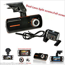 "1080P Dual Lens HD 2.7"" CCTV Car DVR Accident Dash Cam Camera Video Recorder Kit"