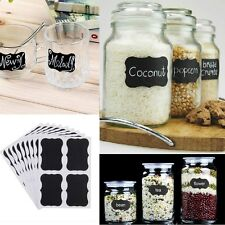 Black Tags Cute Chalkboard Sticker Labels Kitchen Pantry Cup Jar Jam Organizing