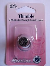 Hemline Sewing Accessory General Sewing Thimble Small Size 16 Metal