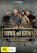 SONS OF GUNS SEASON 2 : BRAND NEW 3DVD SET!  DISCOVERY CHANNEL