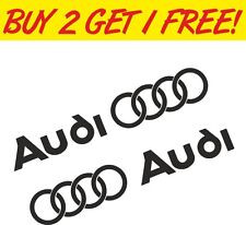 2 x Audi Rings Van Window Graphic Vinyl Decal Sticker