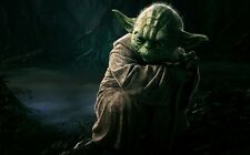 "Yoda Master Jedi Star Wars Fabric Poster 40"" x 24""  Decor 03"