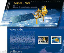 "France - India JOINT Issue ""50 YEARS OF SPACE COOPERATION"" Stamp Pack 2015 !"
