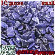 10 Small 10mm Combo Ship Tumbled Gem Stone Crystal Natural - Dumortierite